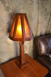 8th Street Mission Oak Arts Crafts Table Lamp