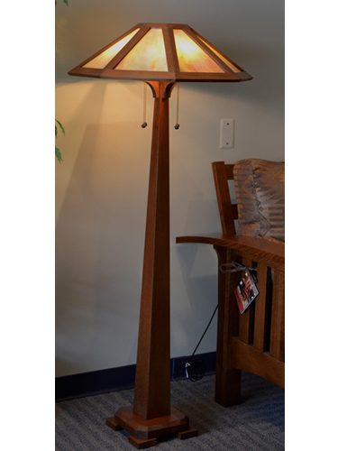 saugatuck mission style floor stained glass lamp. Black Bedroom Furniture Sets. Home Design Ideas
