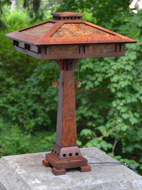 Prairie craftsman style reading lamp mozeypictures Gallery