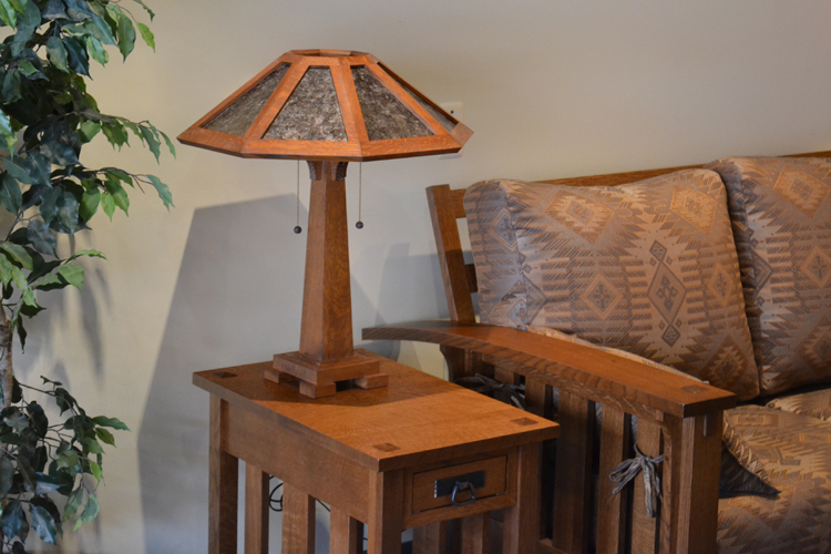 Arts and Crafts Style Saugatuck Reading Mica Lamp