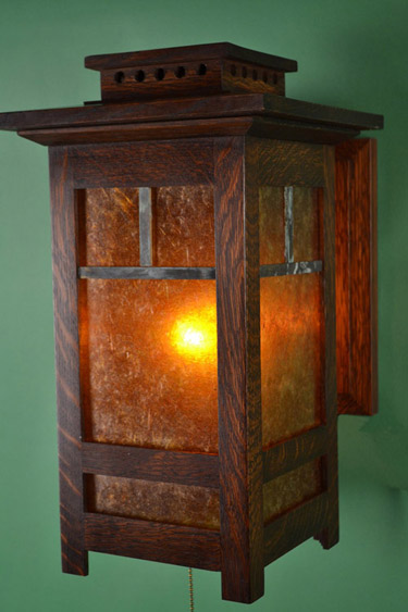 Ragsdale Mission Oak And Mica Wall Sconces