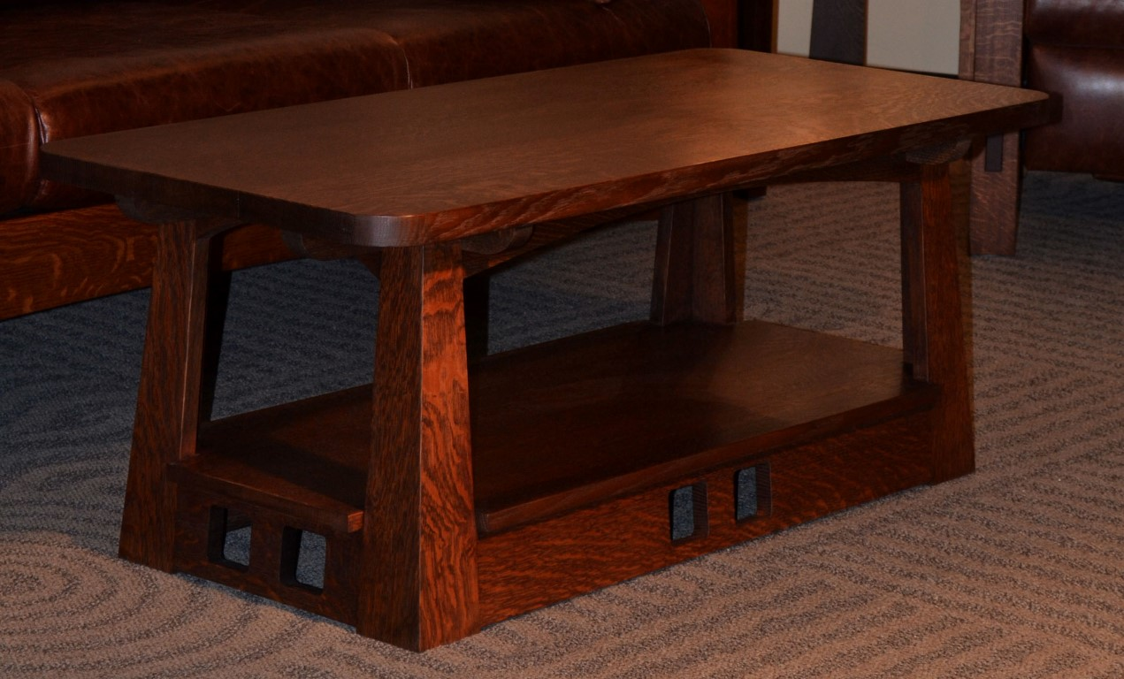 Attirant Limbert Pagoda Style Craftsman Coffee Table